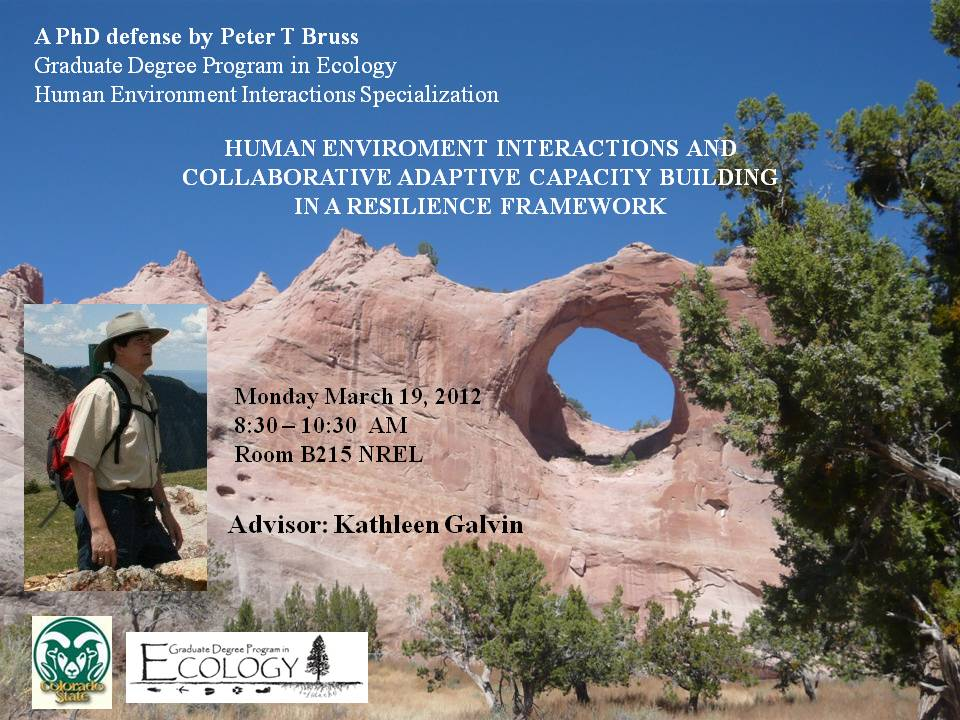 Human environment interactions and collaborative adaptive ...